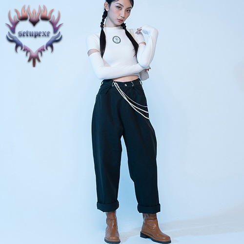 【SETUP-EXE】Waist hook cotton Pt - black