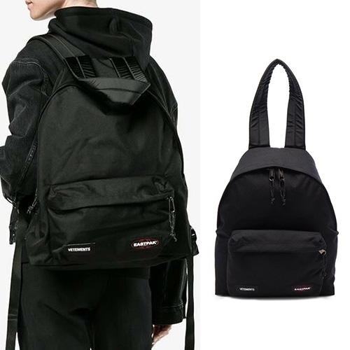 [UNISEX] パッチシンプルブラックバックパック