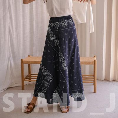 [STAND_J] バンダナロングスカート (2size)