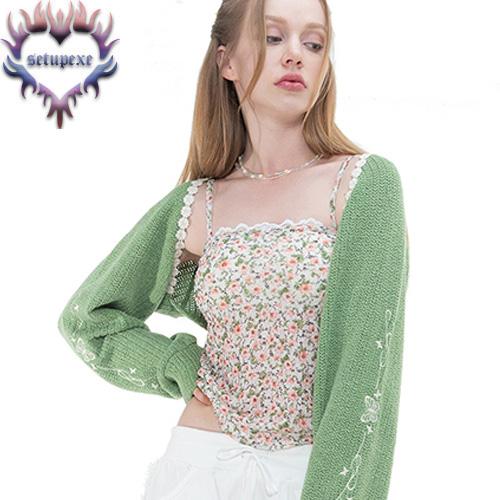 【SETUP-EXE】 Floral basic sleeveless [white]