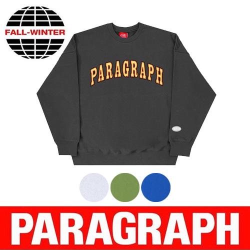 ●正規品●[PARAGRAPH/パラグラフ] 刺繍スウェットシャツ/長袖 (4color)