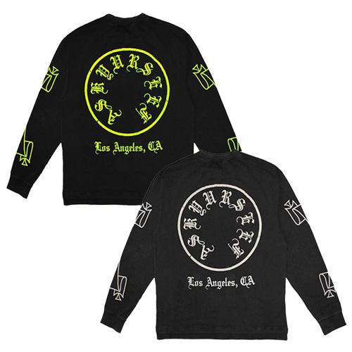 [UNISEX] サークルプリントロングスリーブTシャツ/長袖 (2color)