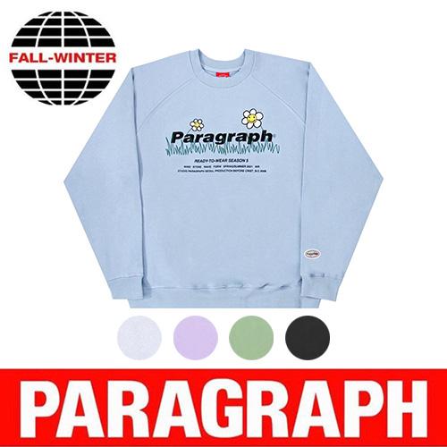 ●正規品●[PARAGRAPH/パラグラフ] フラワー刺繍スウェットシャツ/トレーナー (5color)