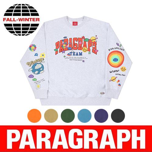 ●正規品●[PARAGRAPH/パラグラフ] スマイルハッピースウェットシャツ/トレーナー (7color)